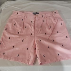 Polo by Ralph Lauren pink chino allover pony short
